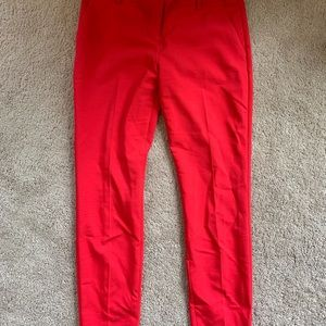 Express Red Ankle Trousers
